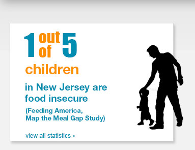 1 out of 5 children in NJ are food insecure